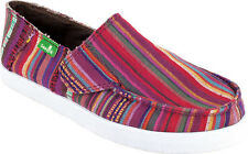 "Sanuk Youth Girl's NEW ""Standard Poncho"" SKF1038 MAGENTA Pink Slip On Ons Shoes"