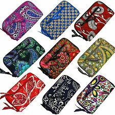 Vera Bradley Zip Around Wallet Wristlet Womens Purse Clutch Organize New V353