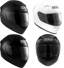 MDS (AGV) SPRINTER SOLID PLAIN FULL FACE MOTORBIKE SCOOTER MOTORCYCLE HELMET
