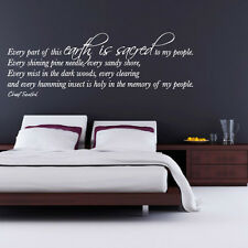 0124 - This Earth Is Sacred - Quote - Vinyl Wall Art - Sticker - Decal