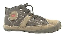 Caterpillar Lingo Canvas Boy's Brown Lace Up Hi Top Casual Trainerss New