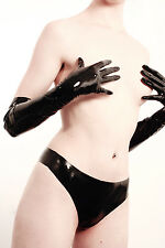 NEW Black Latex Rubber Elbow Gloves (ENGLISH) S M L XL