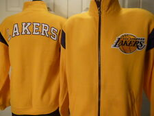 4614 NBA Collection LOS ANGELES LAKERS Full Zip HEAVY Jersey SWEATSHIRT GOLD New