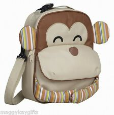 Childrens Insulated Lunch Bags - Backpack - Girl - Boy - Owl - Monkey Navigate
