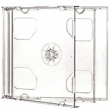 CD Double Jewel Cases 10.4mm for 2 Disc with Clear Tray 1 5 10 25 50 100 200