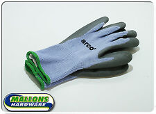 Arco Pack Of 12 Thermal Latex Grip Gloves Grey Fleeced Lined M L XL Bricklayer