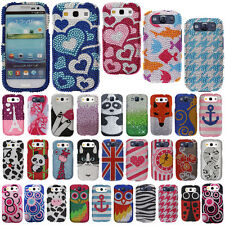 For Samsung Galaxy S 3 i9300 I535 T999 L710 I747 Ladybug Bling Hard Case Cover