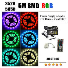 LED Strip 5050 3528 5M RGB SMD Light IR Remote Controller Power Supply Adapter