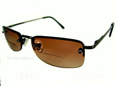 BIFOCAL SEMI RIMLESS, SUN GLASSES, READING GLASSES.