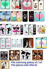 Forever Bestfriends Case For Iphone 4 4s 5 5s 5c Galaxy S3 S4 Zoo Cartoon Lover