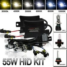 55W HID Bi-XENON KIT/Bulbs Hi/Low Dual Beam H4 9003 9004 9007 9008 H13 6000K