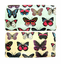 Ladies Ella Butterfly Print Bifold Purse 2 Colours Available Style 72676