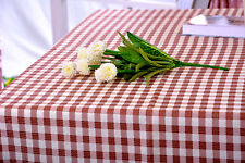 Gingham Check Tablecloths, 2 fantastic colours, 2 sizes,100 % Polyester