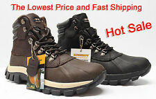 Free Socks Giveaway Kingshow Men's Winter Snow Boots Shoes  Waterproof
