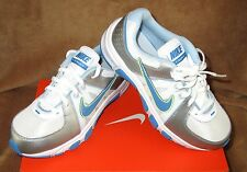 NEW NIKE T-RUN 5 RUNNING SHOE WHITE/SILVER/LIME GREEN/BLUE YOUTH SZ 3
