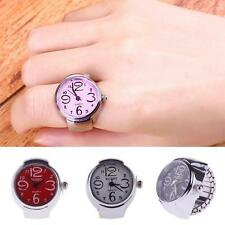 New Madame Girl Montre Bague Anneau Mouvement à Quartz Alliage Finger Ring Watch