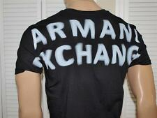 Armani Exchange Shaken V neck T Shirt Black NWT