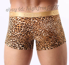 Brand New Sexy Men's Super Soft Leopar Underwear Cool Leopard Bulge Pouch Boxers