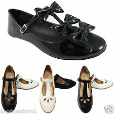 LADIES WOMENS GIRLS MARY JANE BALLERINA DOLLY PUMP SCHOOL WORK OFFICE GEEK SHOES