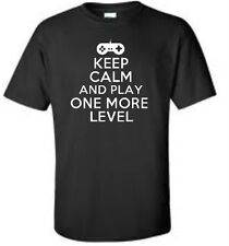 Keep Calm And Play One More Level Big & And Tall T-Shirt Video Game Mens Tee