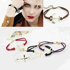 FREE SHIPPING1Pcs Womens Mens Personalized Cross 8 Shape Bracelet Jewerly Chain