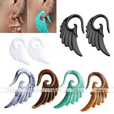 Resin Wing Hook Spiral Ear Plugs Stretcher Taper Expander Earring Piercing Gauge
