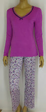 LADIES  MAGENTA AND GREY FLORAL PRINT  PYJAMAS- Sizes 10-16