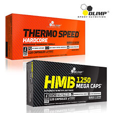 Thermo Speed Hardcore + HMB 60-180 Caps. Thermogenic Lean Ripped Mass Builder