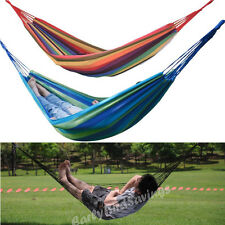 Portable Garden Hammock Sleeping Bed Swing Outdoor Camping Travel Single Person