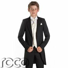 Boys Black Suit, Boys Tail Suits, Wedding Suits, Page Boy Suits, Slim Fit Suits
