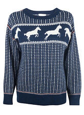 Band of Outsiders Navy Faire Isle Horses Sweater
