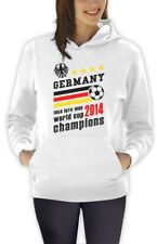 Germany World Cup Champions Women Hoodie Soccer National Team 2014 Winners Top