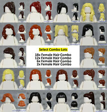 LEGO - Assorted Lots of FEMALE Minifigure Hair Pieces - Wigs Hat Cap Ponytail