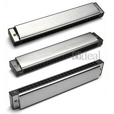 24 Holes Double Tremolo Tuned Harmonica Key of all A-H Toy Kids