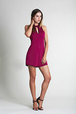 NEW THREE OF SOMETHING FORTUNES DRESS BERRY, SEXY RRP $90