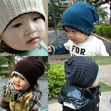 New Baby Boy/Girl Reversible Hat Knit Chinese Doughnut Pattern Beanie Cap @G7