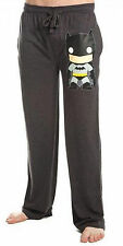 Batman DC Comics Funko Print Gray Lounge Sleep Pants Licensed Adult NWT