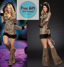 Animal Cheetah-Luscious Furry Women Adult Costume Halloween Rave Party @MS5822