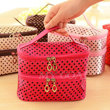 New Portable Toiletry Beauty Cosmetic Bag Makeup Case Organizer Holder Handbag