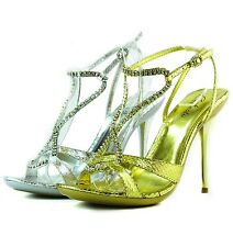 Women Open Toe Ankle Strap High Heel Sexy Rhinestone Evening Dress Sandal Shoes