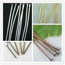 Wholesale100pcs Silver/Golden/Bronze/Copper Plated Head Pins Needles Finding Lot