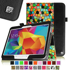 """Slim Folio PU Leather Case Stand Cover for Samsung Galaxy Tab 4 10.1"""" Tablet"""