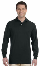 Jerzees Men's Bottom Long Sleeve Spotshield Polo Shirt S-2XL, 12-Pack. 437L