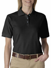 UltraClub Women's Easy Care Topstitching Whisper Polo Shirt, 5-Pack. 8541