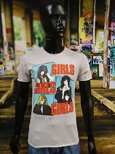 AMPLIFIED Official Uni-Sex Tee Shirt Various Sizes MOTLEY CRUE GIRLS GIRLS GIRLS