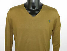 G-Star Men Strickpullover CL GUIDE V KNIT 86910.664.248 Braun +NEU+ Größe L & XL