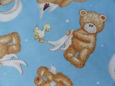 Teddy Bear cotton Popcorn the Bear Panel fabric cheater quilt sewing quilting