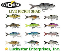 "Storm Live Kickin' Shad - Assorted Sizes/Colors - LKSD 3"", 4"", 5"", 6"" NEW in pkg"