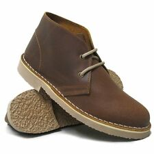 Womens Roamers Brown Distressed Leather Welted  Desert Boots 3 - 7