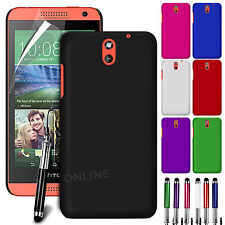 HARD BACK SKIN CASE COVER, SCREEN GUARD & STYLUS PEN FOR HTC DESIRE 610